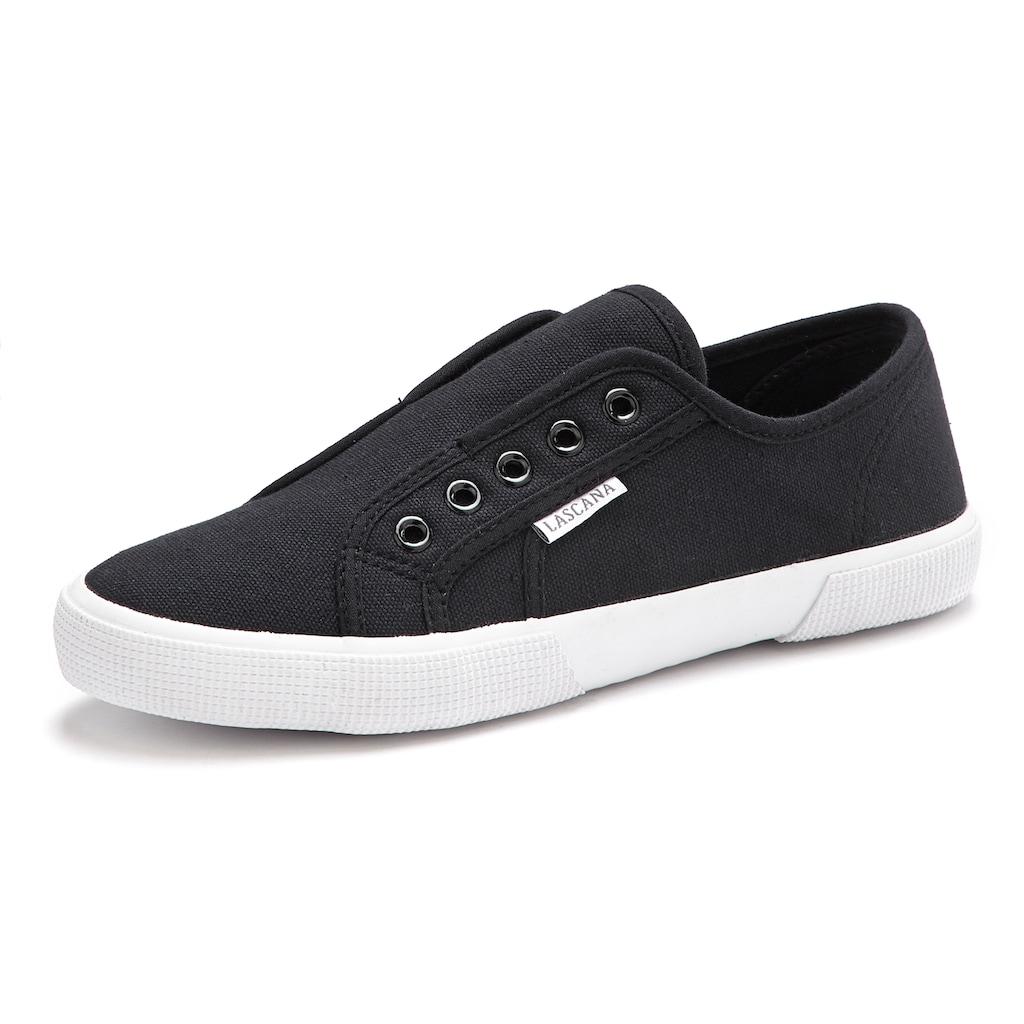 LASCANA Sneaker, Slip In bequem zum Reinschlüpfen