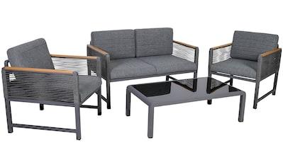 Greemotion Loungeset »Nevi«, (4 tlg.), Armlehne aus Holz-Kunstoff-Gemisch kaufen