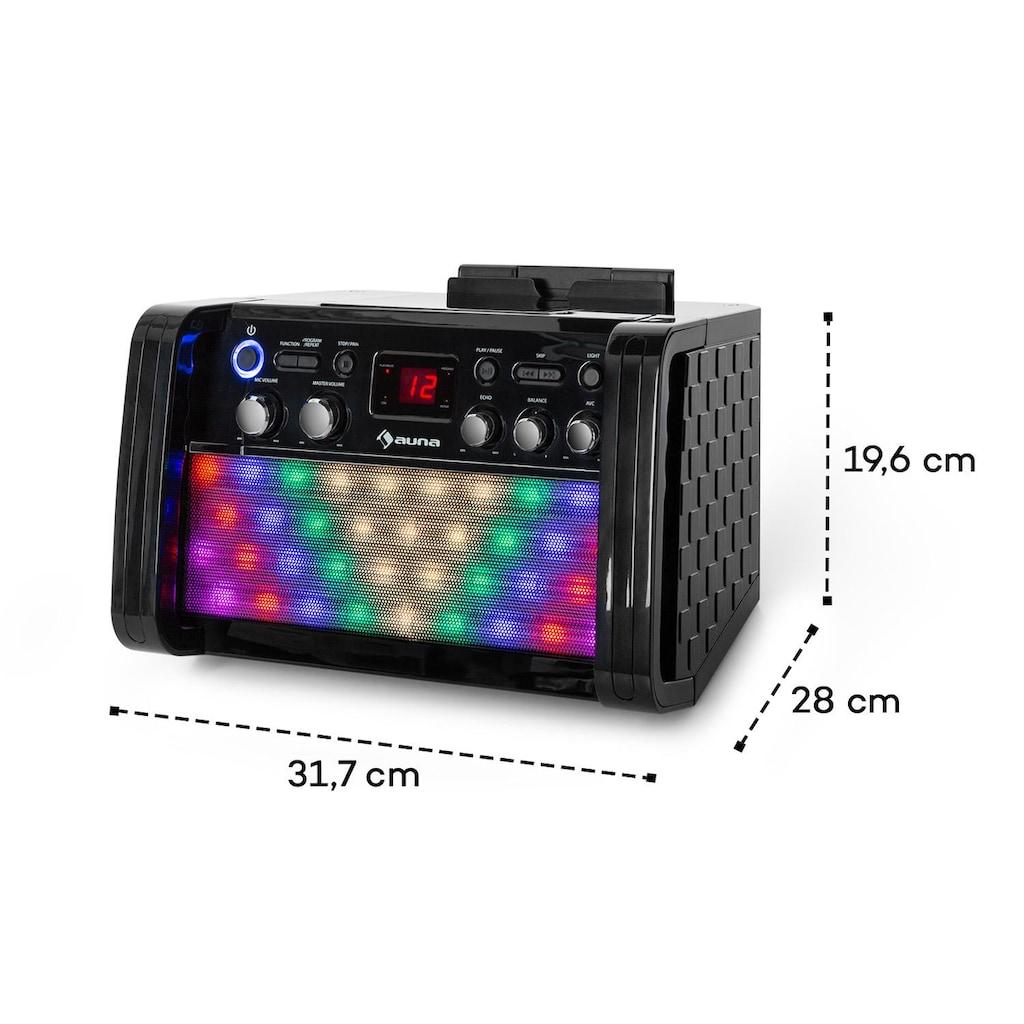 Auna DiscoFever 2.0 Karaokeanlage, BT, Disco-LED, CD-/CD+G-Player
