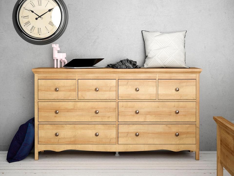 home affaire kommode silkeborg aus foliertem. Black Bedroom Furniture Sets. Home Design Ideas
