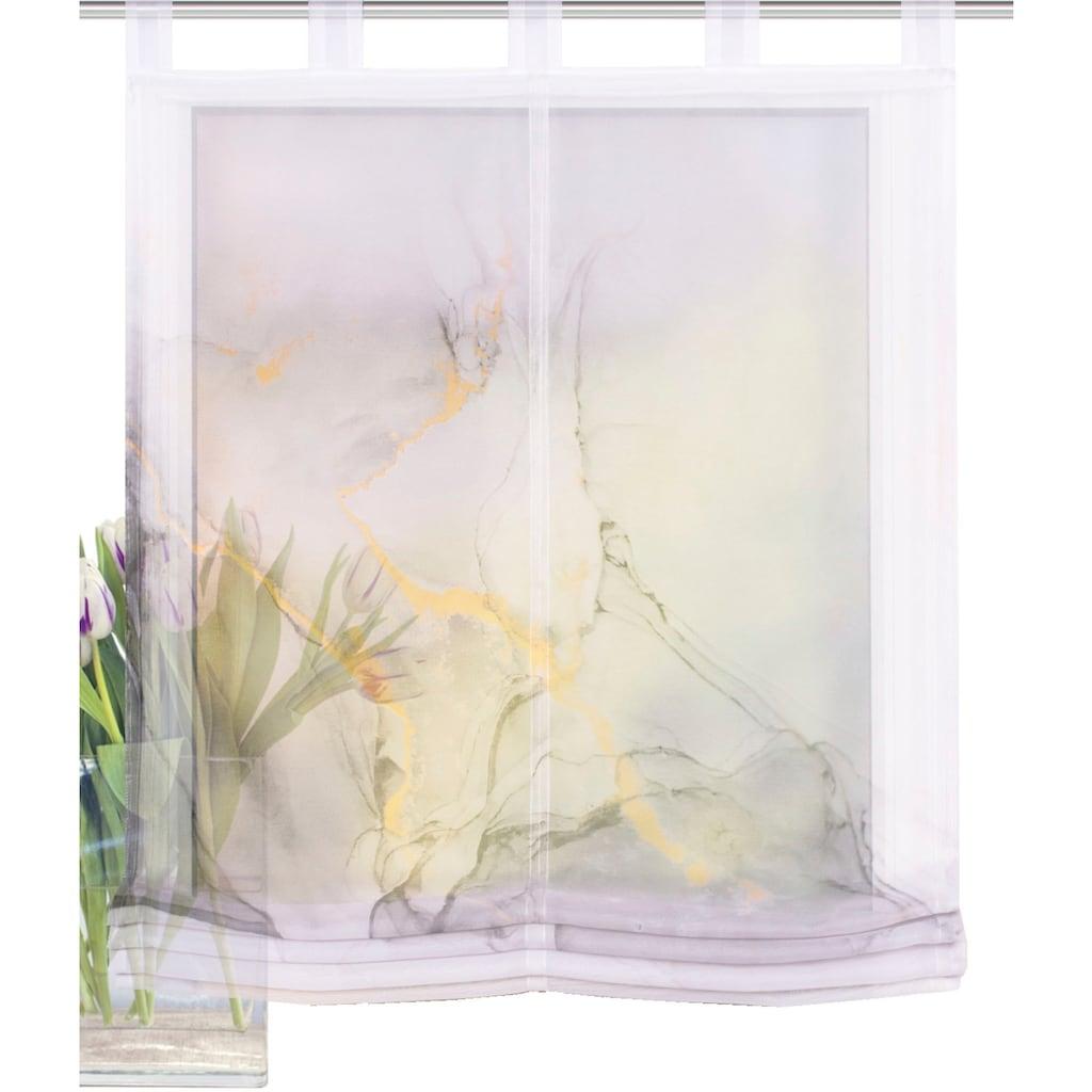HOME WOHNIDEEN Raffrollo »MARMOSA«, mit Schlaufen, freihängend, Digitaldruck