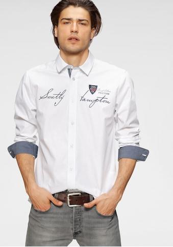 TOM TAILOR Polo Team Langarmhemd, mit Logoschriftzug kaufen