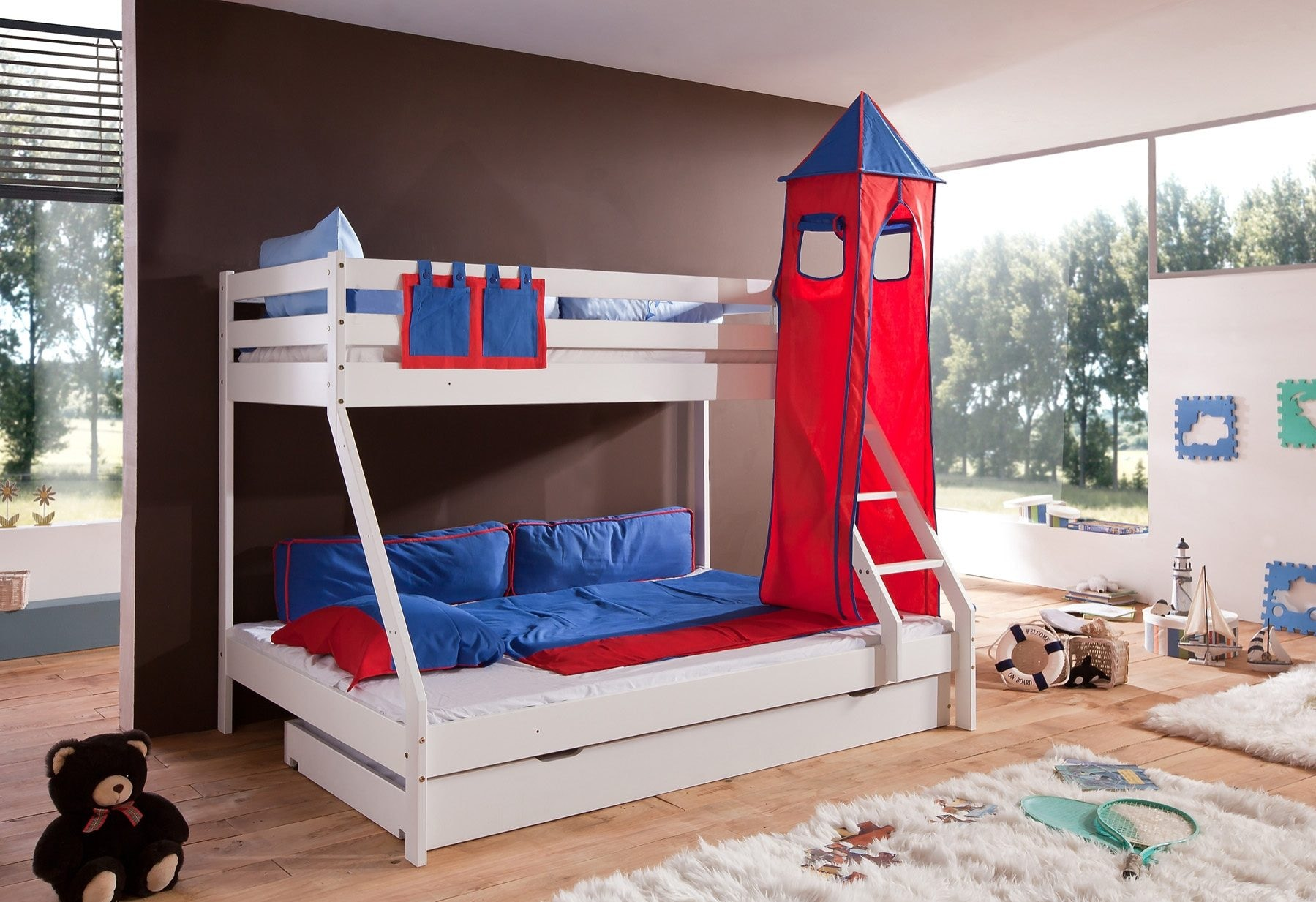 Etagenbett Mit Rutsche Wickey Crazy Circus : Rot etagenbetten online kaufen möbel suchmaschine ladendirekt