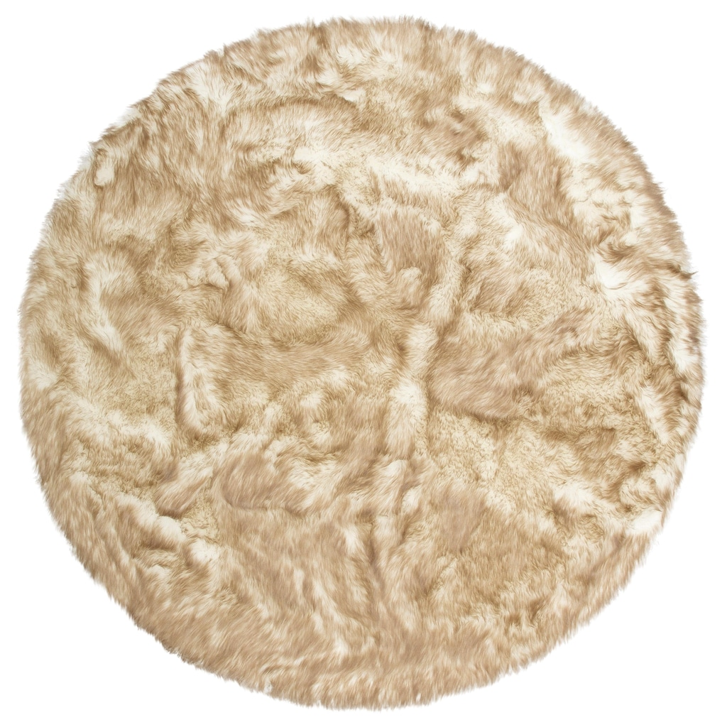 my home Fellteppich »Sammo«, rund, 60 mm Höhe, Kunstfell, sehr weicher Flor