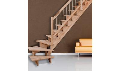 STARWOOD Massivholztreppe »Lindos«, B: 80 cm, in 2 Varianten kaufen