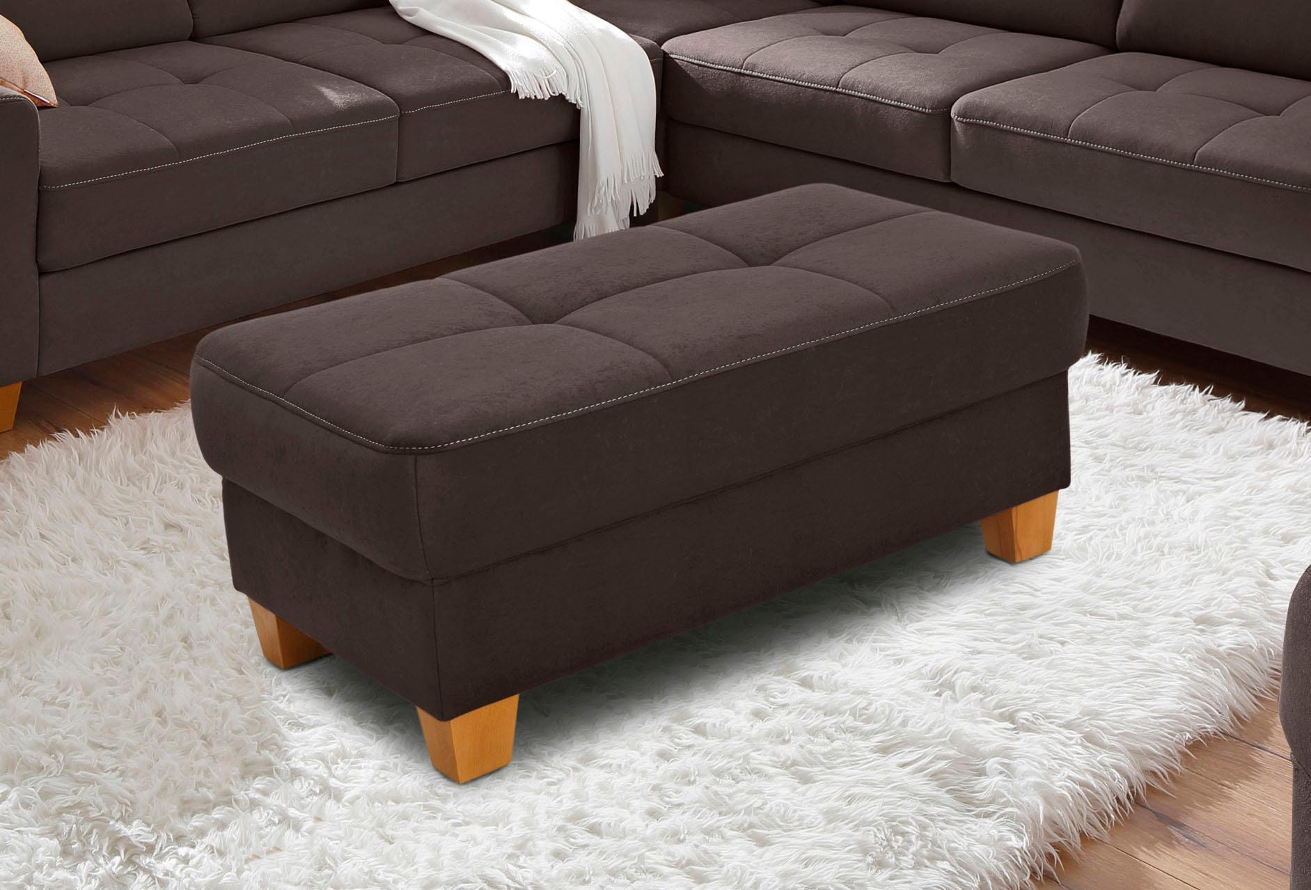 Home affaire Hocker »Pucci« | Wohnzimmer > Hocker & Poufs > Polsterhocker | home affaire