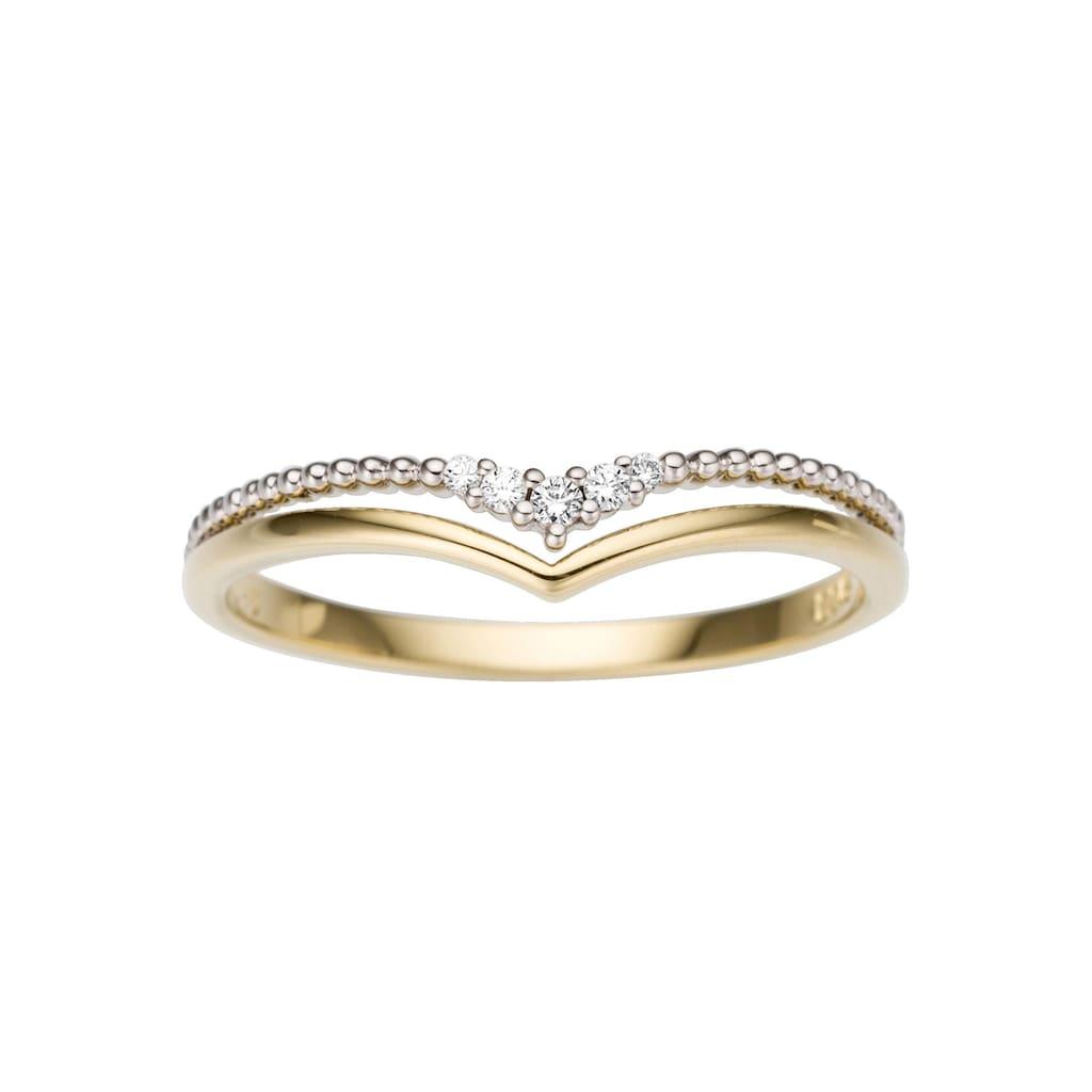 Firetti Diamantring »Zweifarbig, ca. 3,5 mm breit«, mit Brillanten