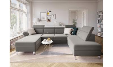 sit&more Wohnlandschaft, inklusive Kopfteilverstellung, wahlweise mit Bettfunktion und Bettkasten kaufen