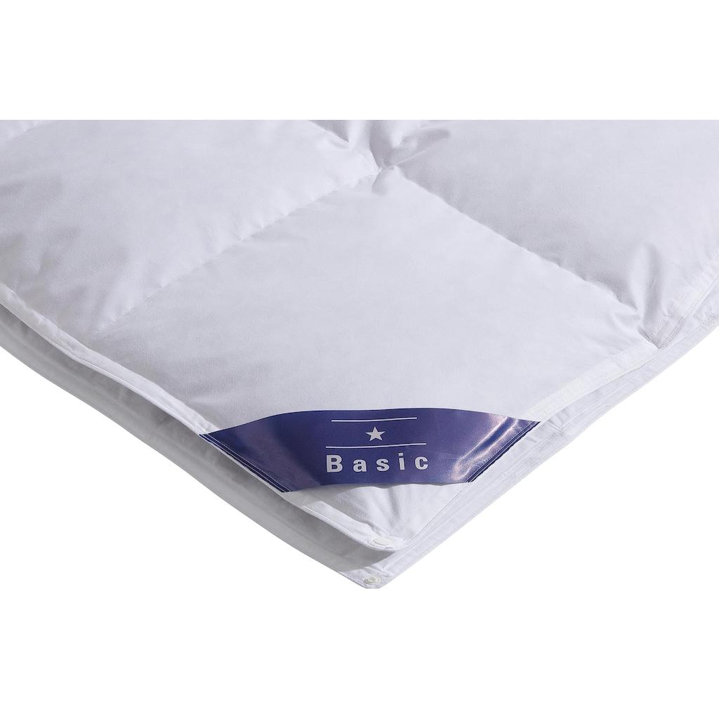 Hanse by RIBECO Federbettdecke »Jonas«, 4-Jahreszeiten, Füllung 10% Daunen, 90% Federn, Bezug 100% Baumwolle, (1 St.), Schlafkomfort fürs ganze Jahr!