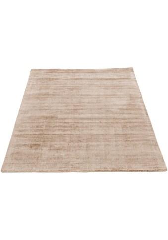 carpetfine Teppich »Ava«, rechteckig, 13 mm Höhe, Viskoseteppich, Seidenoptik, Wohnzimmer kaufen