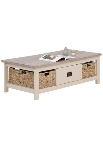 Home affaire Couchtisch, mit 1 Schublade und 2 Körben, Breite 120 cm kaufen