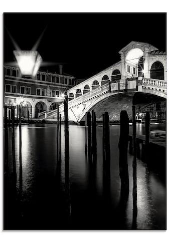 Artland Glasbild »Venedig Canal Grande & Rialto Brücke I«, Brücken, (1 St.) kaufen