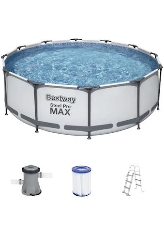 Bestway Rundpool »Steel Pro MAX™ Frame«, (Set), ØxH: 366x100 cm kaufen