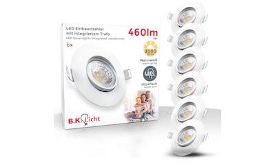 B.K.Licht LED Einbauleuchte, LED-Board, 6 St., Warmweiß, LED Einbauspots schwenkbar IP23 ultra-flach SET Deckenspots warmweiß 5W 460 Lumen kaufen