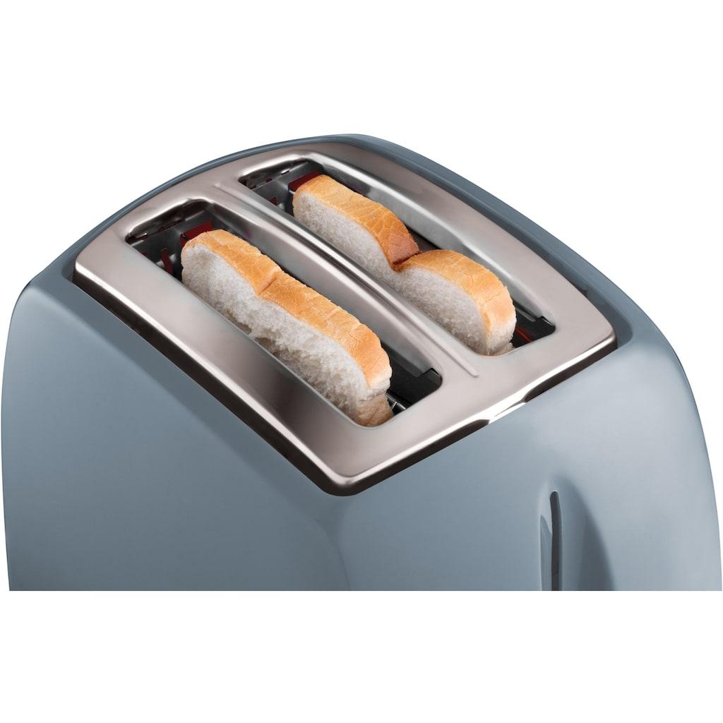 RUSSELL HOBBS Toaster »Textures Grey 21644-56«, 2 kurze Schlitze, für 2 Scheiben, 850 W