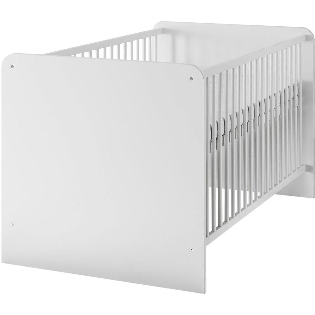 Babyzimmer-Komplettset »Bibo«, (Set, 3 tlg.), Bett + Wickelkommode + 2-trg. Schrank