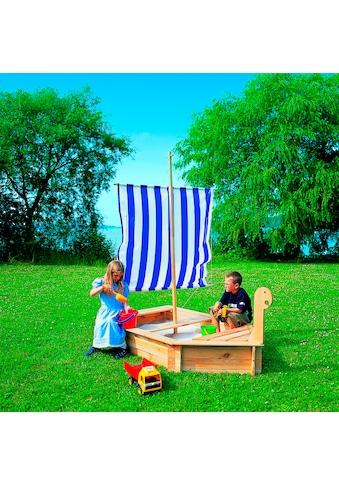 PROMADINO Sandkasten »Störtebeker«, BxL: 116x222 cm, mit Segel kaufen