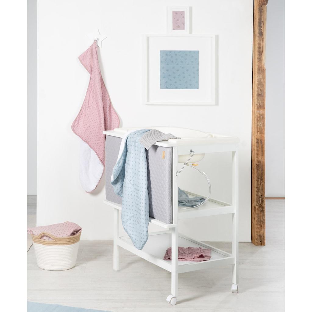 roba® Bade- und Wickelregal »Baby Pool, weiß«, bis 11 kg, inkl. Wickelauflage silbergrau, 47 cm