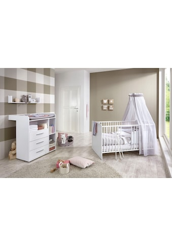 BMG Babymöbel-Set »Luis«, (Set, 3 tlg.), Bett + Wickelkommode + Wandboard kaufen