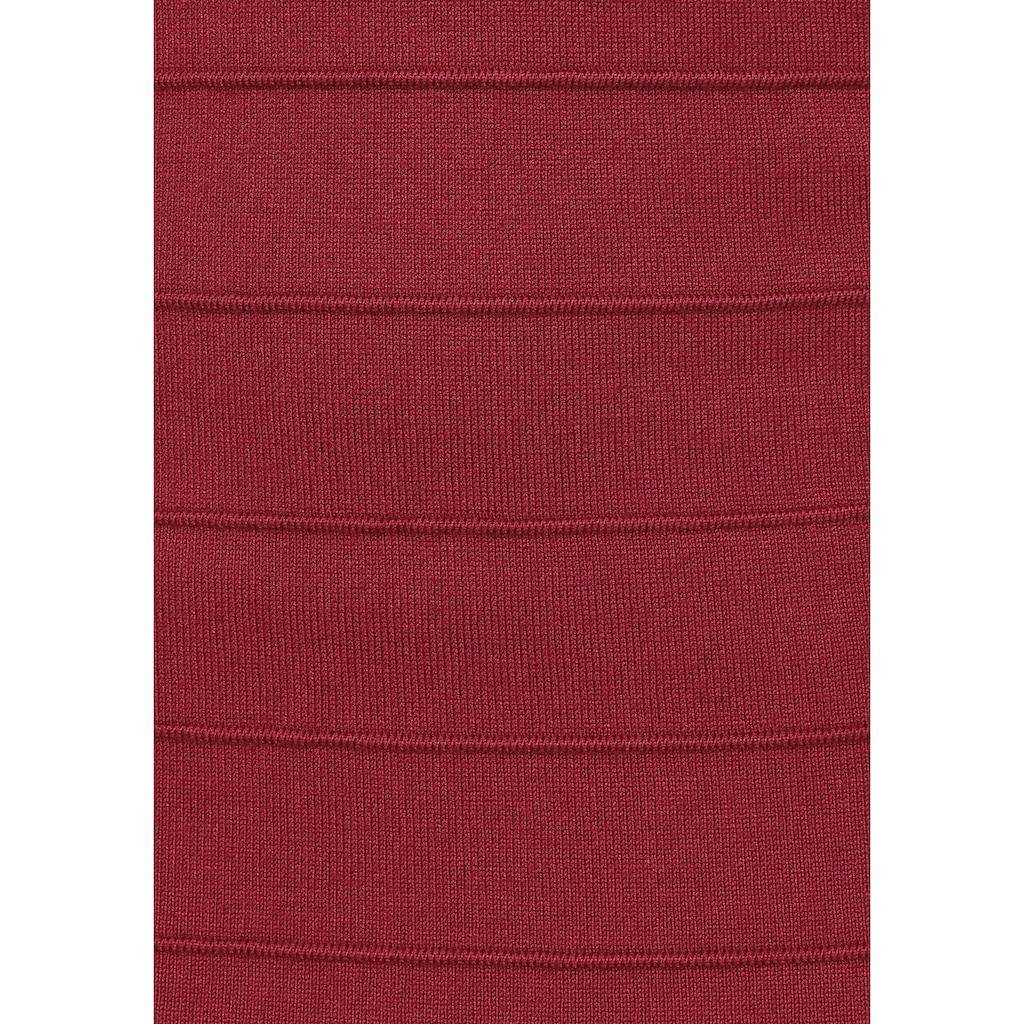 Melrose Strickkleid, mit elegantem Einsatz aus Spitze
