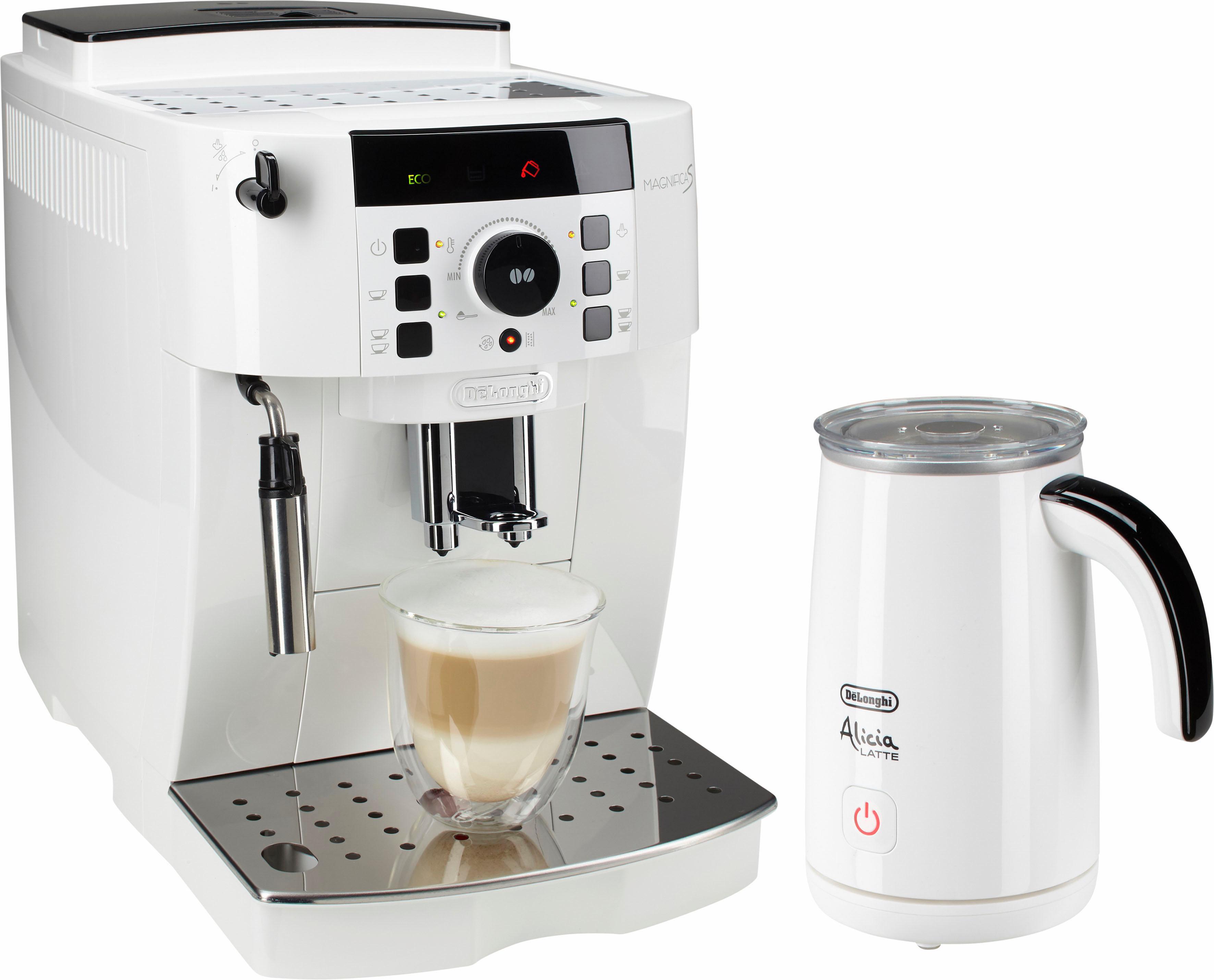 De´Longhi Kaffeevollautomat ECAM 21.118.W, 1,8l Tank, Kegelmahlwerk | Küche und Esszimmer > Kaffee und Tee > Kaffeevollautomaten | Weiß | DELONGHI
