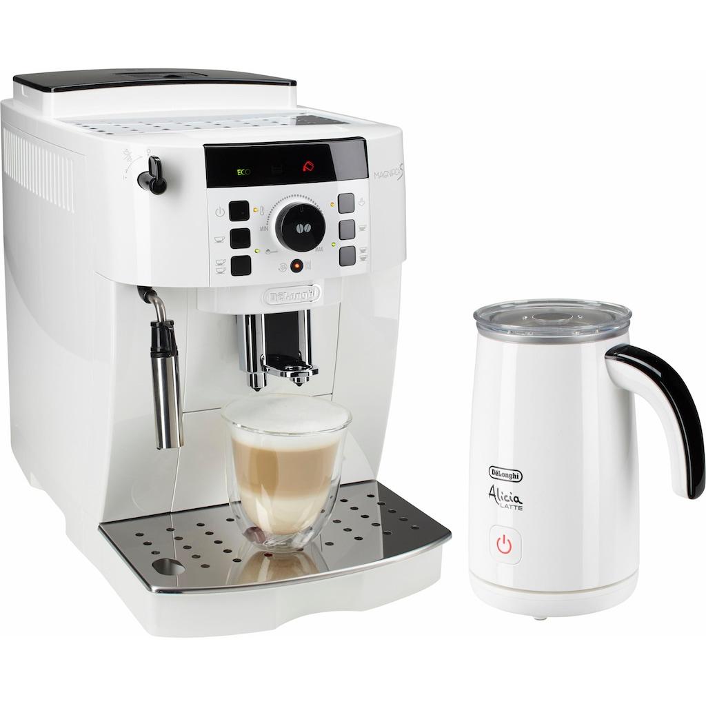 De'Longhi Kaffeevollautomat »ECAM 21.118.W«, inkl. Milchaufschäumer im Wert von UVP 89,99