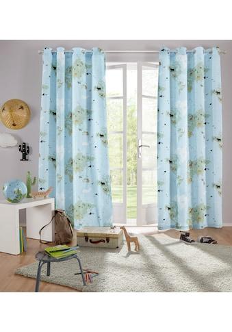 Lüttenhütt Vorhang »Weltkarte«, Nachhaltige Kindergardine kaufen