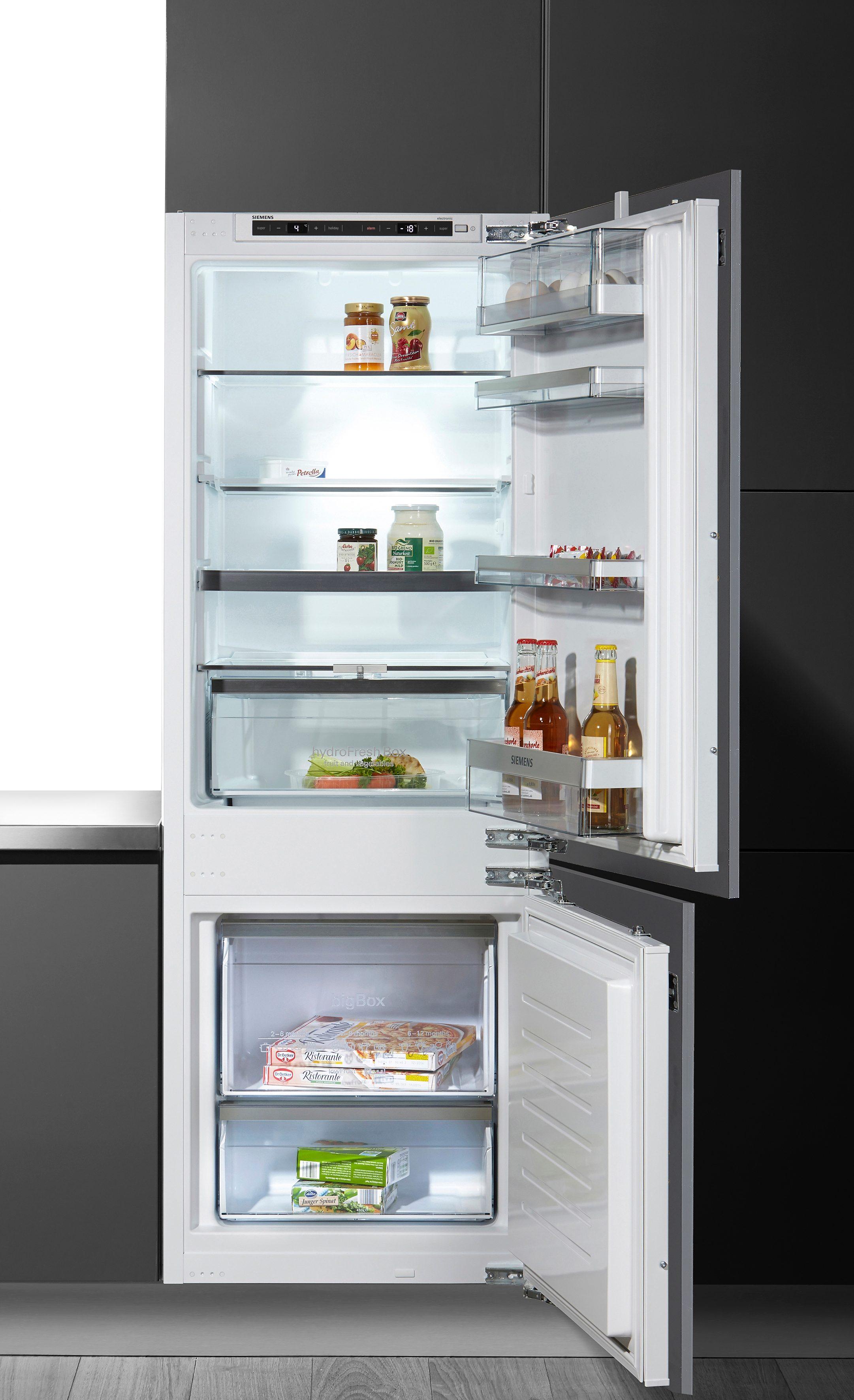 SIEMENS Einbaukühlgefrierkombination iQ500, 157,8 cm hoch, 55, 8 cm breit | Küche und Esszimmer > Küchenelektrogeräte > Kühl-Gefrierkombis | Weiß | Siemens