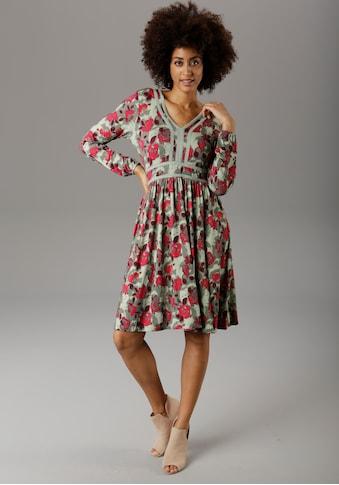 Aniston SELECTED Jerseykleid, mit Häkelverzierung kaufen