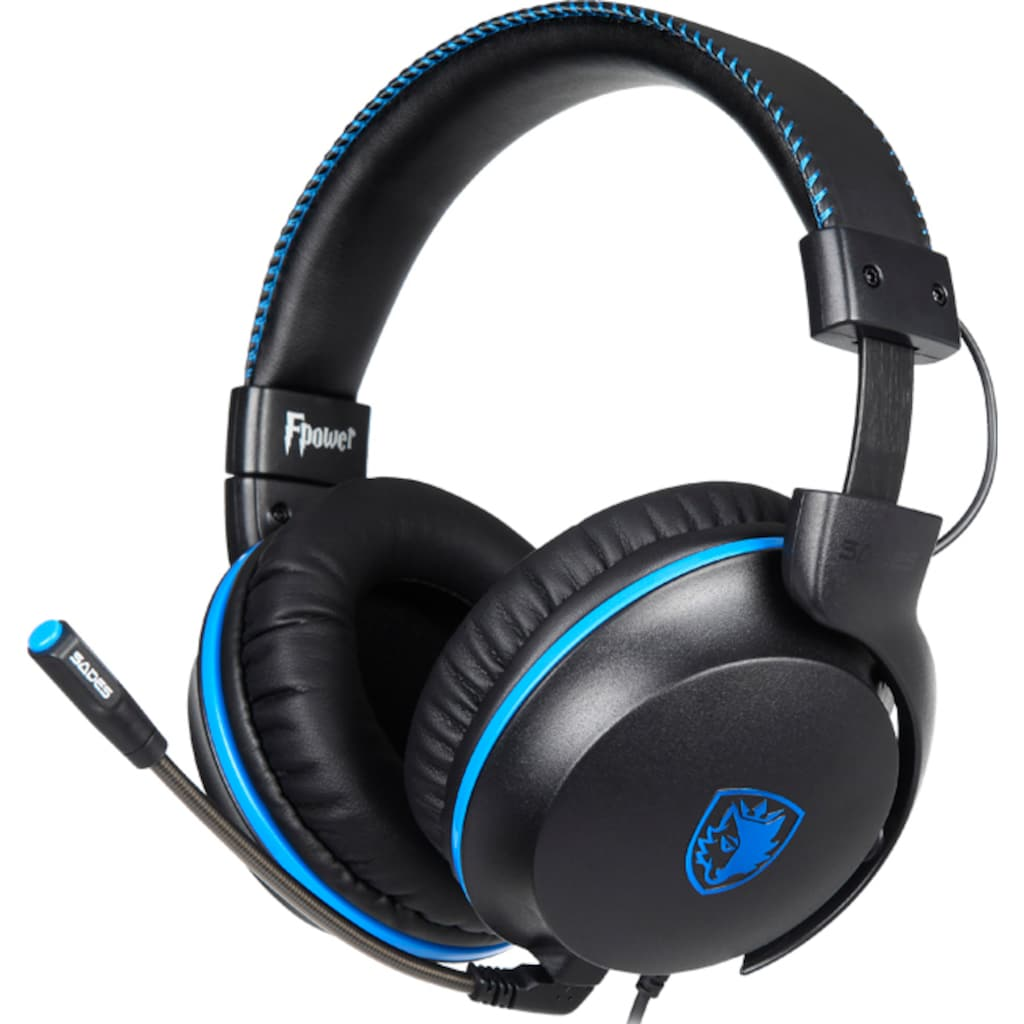 Sades Gaming-Headset »Fpower SA-717«, Mikrofon abnehmbar, Kompatibel mit PS4, PS5, Xbox One, Xbox Series X/S und Nintendo Switch