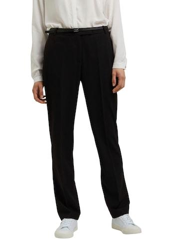 Esprit Collection Anzughose, (mit Gürtel), mit Bügelfalten kaufen