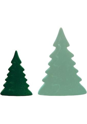 VALENTINO Wohnideen Dekobaum »Moria« (Set, 2 Stück, 1x klein/dunkelgrün, 1x groß/hellgrün) kaufen