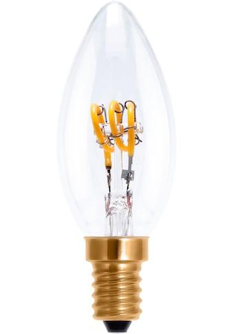 SEGULA LED-Leuchtmittel »Kerze«, E14, 1 St., Extra-Warmweiß, LED Lampe dimmbar, LED Kerze klar, klare LED Kerze, Design LED, Filament LED Lampe, E14 LED Leuchtmittel, Retrostyle LED Kerze, dimmbare LED Kerze, LED Leuchtmittel dimmbar kaufen