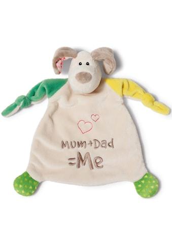 Nici Schmusetuch »My First NICI Kollektion, Hund Fino, Mum+Dad=Me«, mit aufgestickten Augen kaufen