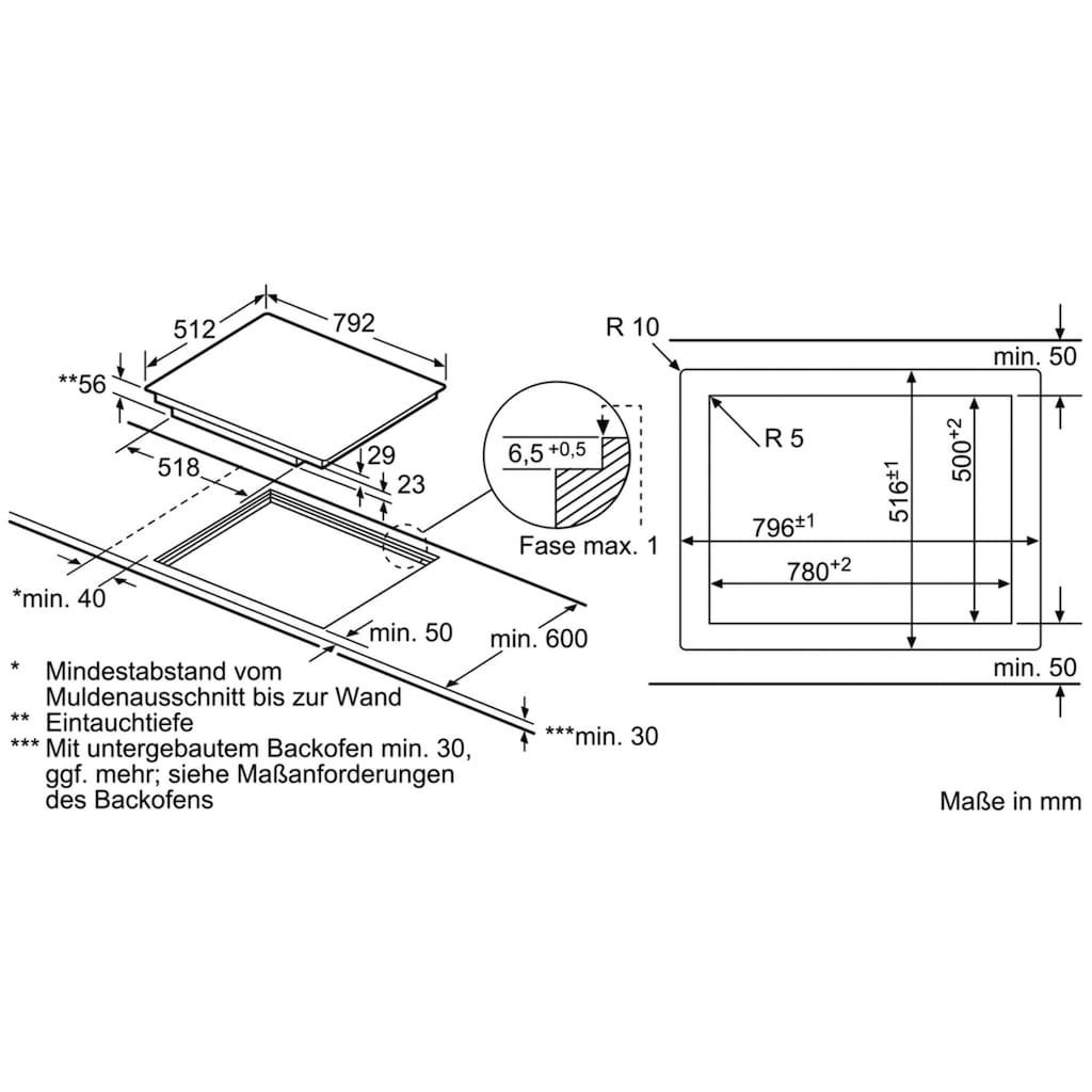 BOSCH Flex-Induktions-Kochfeld von SCHOTT CERAN®, PXY801DW4E, mit DirectSelect Premium