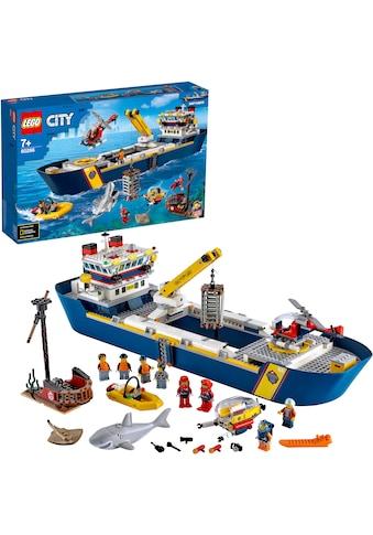 "LEGO® Konstruktionsspielsteine ""Meeresforschungsschiff (60266), LEGO® City Oceans"", Kunststoff, (745 - tlg.) kaufen"