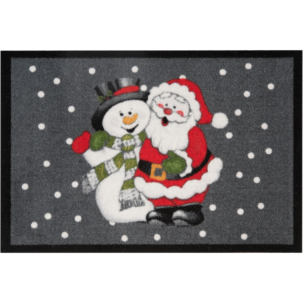 HANSE Home Fußmatte »Santa Snowman«, rechteckig, 7 mm Höhe, Schmutzfangmatte, In- und Outdoor geeignet
