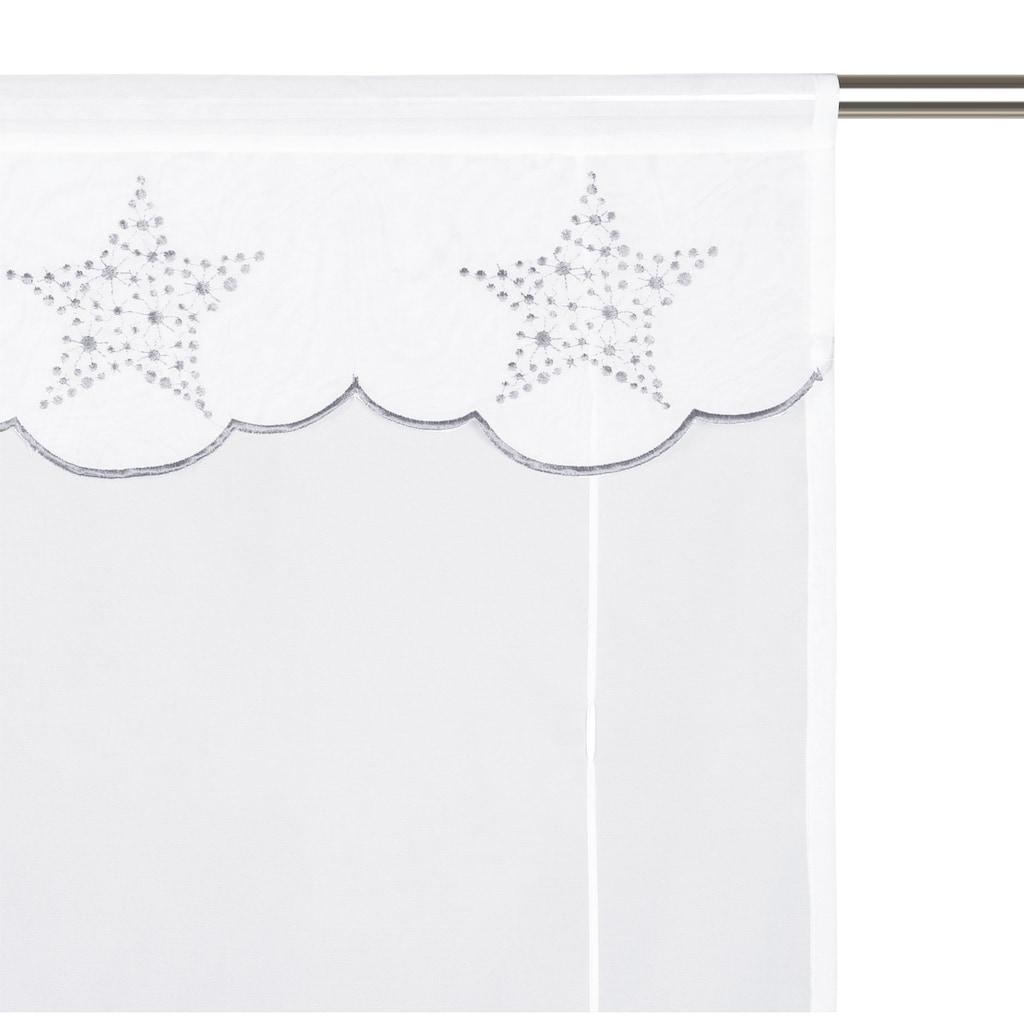 my home Bändchenrollo »Sterne«, mit Stangendurchzug