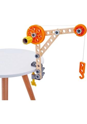 """Hape Konstruktionsspielsteine """"Bausatz für Tüftler"""", Holz Kunststoff, (37 - tlg.) kaufen"""