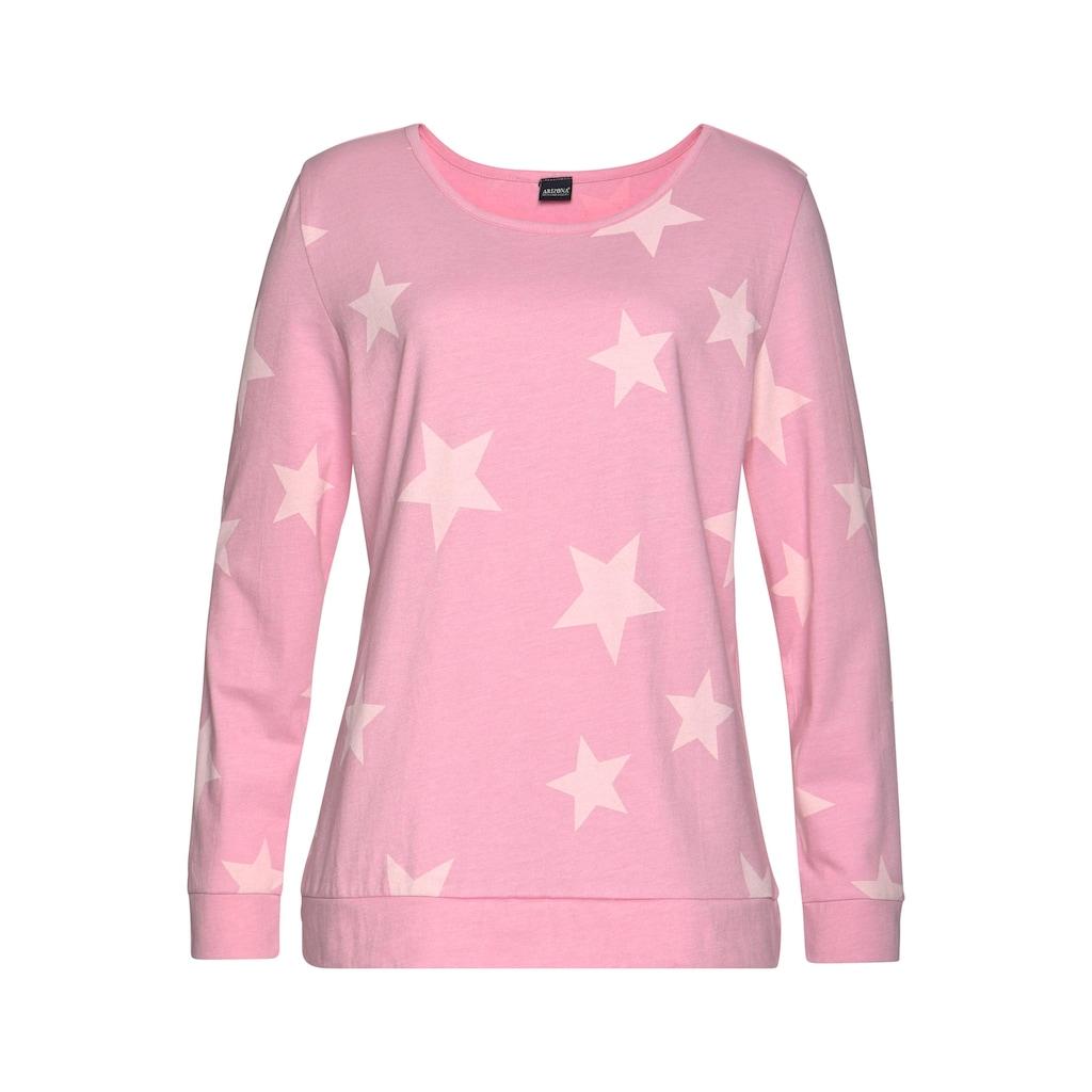 Arizona Pyjama, (2 Stück), in melierter Optik mit Sternen