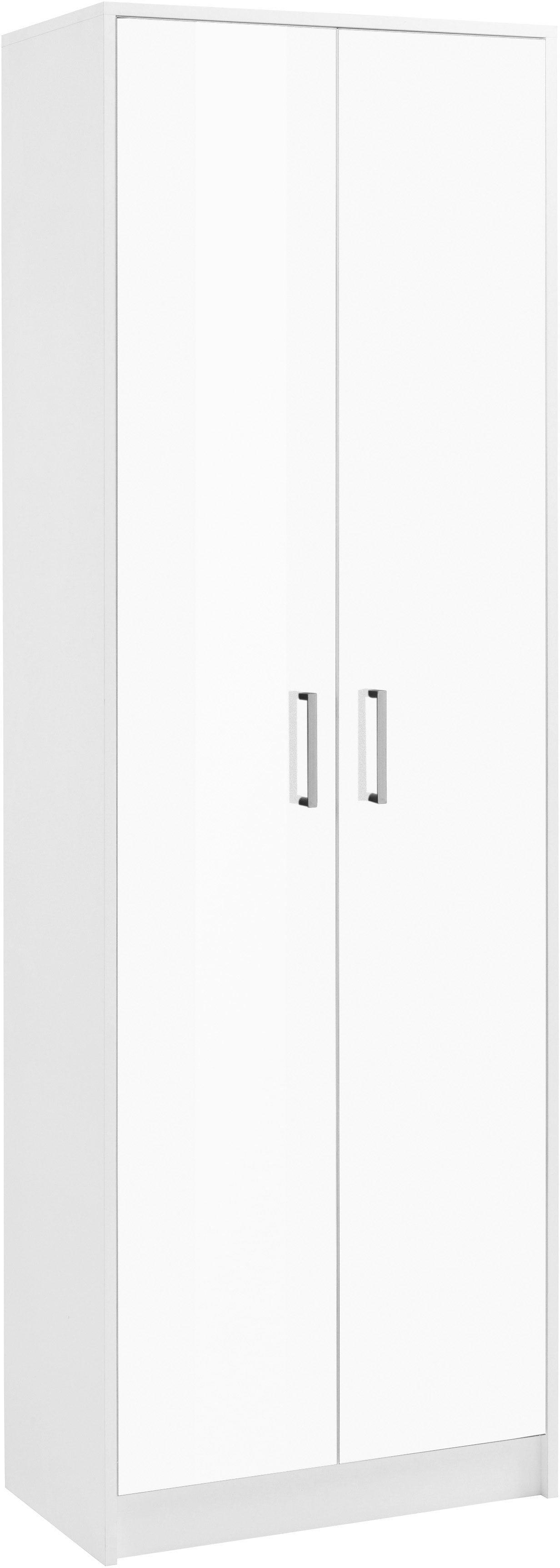 Borchardt Möbel Garderobenschrank »Finn« mit 2 Türen und Hochglanz Fronten | Flur & Diele > Garderoben > Garderobenschränke | Weiß | Hochglanz - Melamin | BORCHARDT MÖBEL