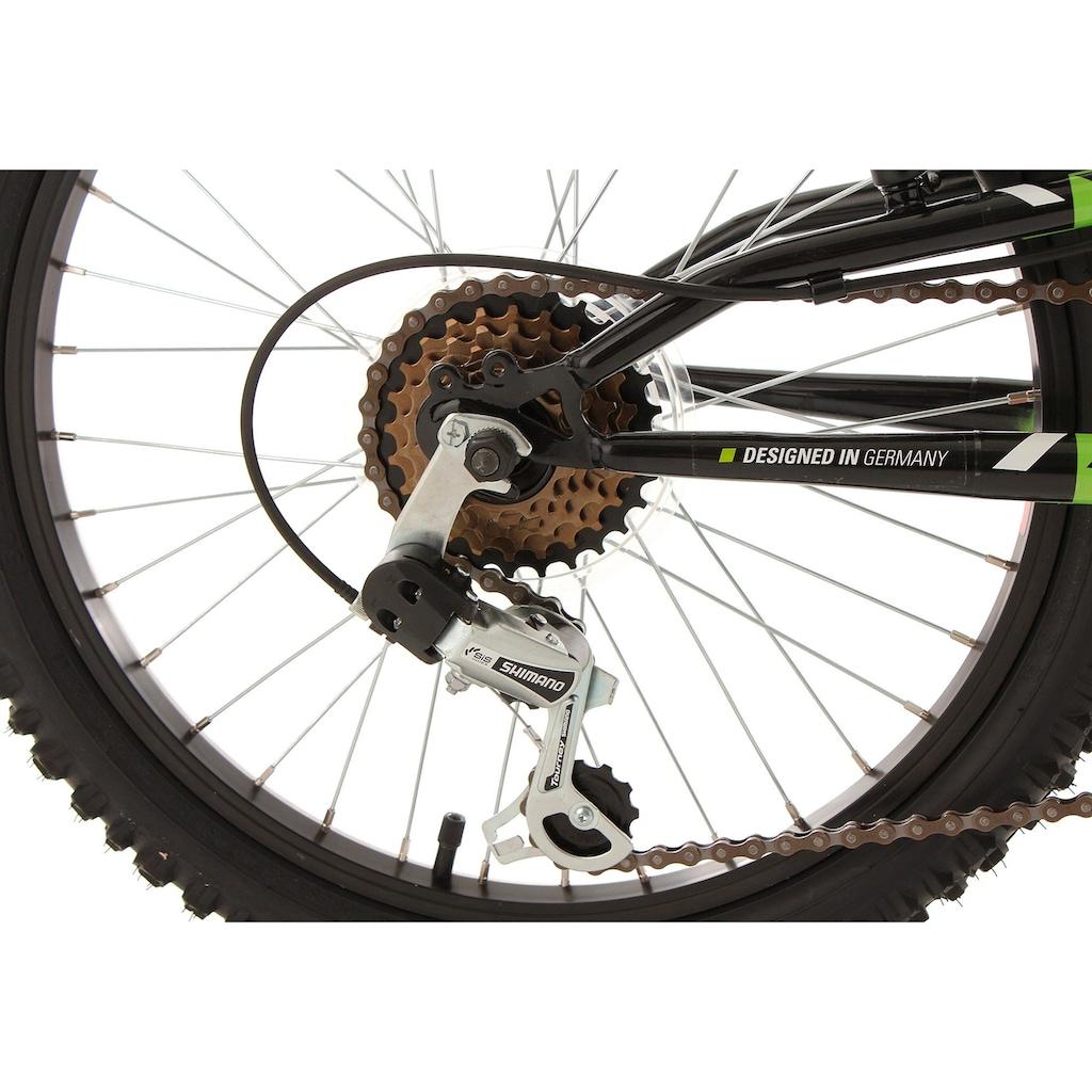 KS Cycling Jugendfahrrad »Zodiac«, 6 Gang, Shimano, Tourney Schaltwerk, Kettenschaltung