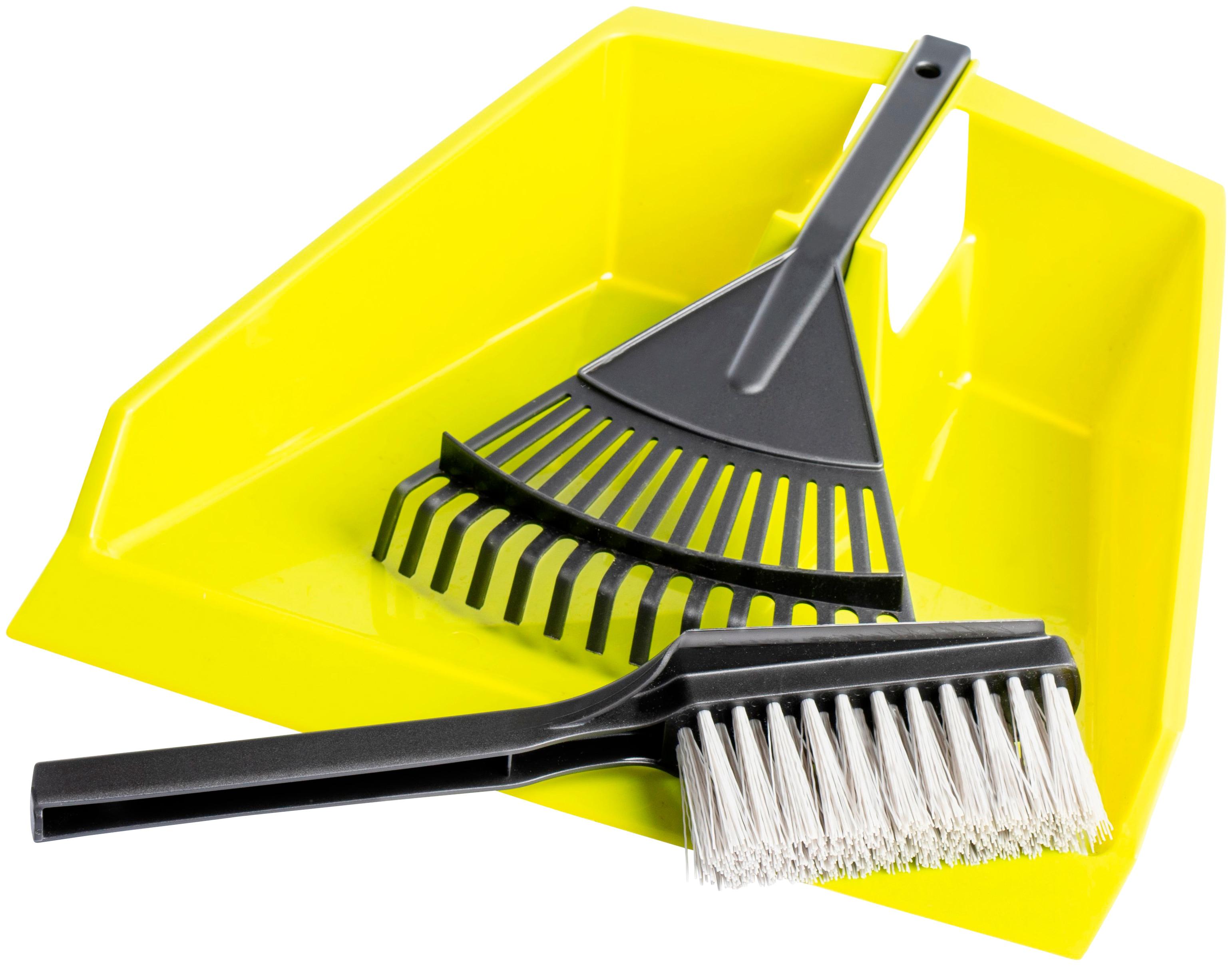 UPP Kehrset »Jumbo«, große Schaufel mit Besen und Rechen   Garten > Gartengeräte > Spaten und Schaufeln   Grün   Kunststoff   UPP