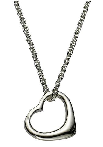 Firetti Kette mit Anhänger »Herz, Glanzoptik, rhodiniert« kaufen