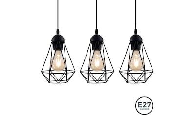 B.K.Licht LED Pendelleuchte, E27, LED Hängelampe schwarz Metall Draht Vintage... kaufen