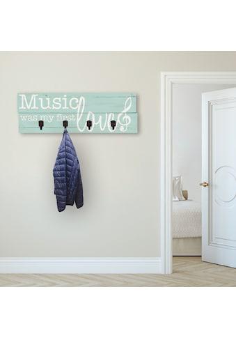 Artland Garderobenpaneel »Die Musik war meine erste Liebe« kaufen