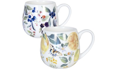 Könitz Becher »Tea Berry & Lemon by V.Lowe«, (Set, 2 tlg., 2 Becher mit unterschiedlichen Designs), Porzellan, 400 ml kaufen