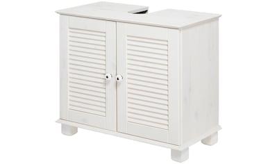 WELLTIME Waschbeckenunterschrank »Sund«, Breite 63 cm, aus Massivholz kaufen