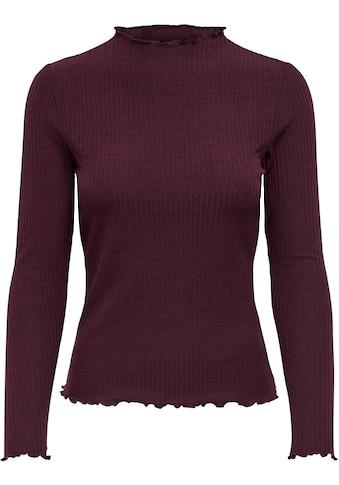 Only Langarmshirt »ONLEMMA«, mit süßem Stehkragen kaufen