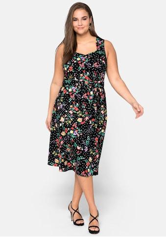 sheego by Joe Browns Sommerkleid, aus Baumwollsatin mit Blumendruck kaufen